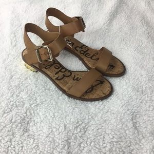 27b8f2868453 Sam Edelman Shoes - NEW! Sam Edelman Trixie sandals cognac gold heel